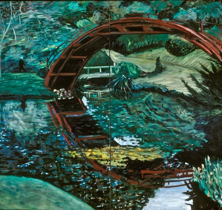 bridge, water, nature